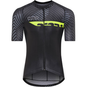 Bioracer Spitfire Dazzle Jersey SS Men grey-fluo yellow